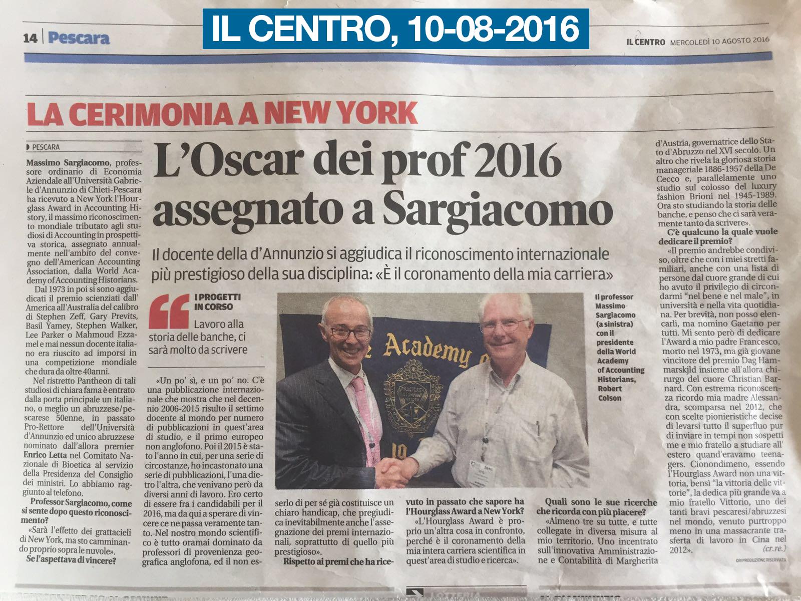 Massimo Sargiacomo - AAA New York 2016