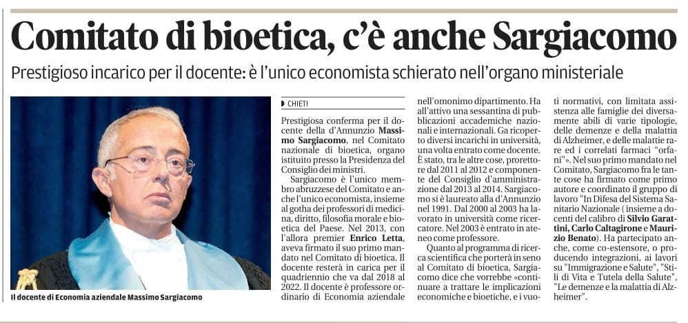 Massimo Sargiacomo - Il Centro marzo 2018