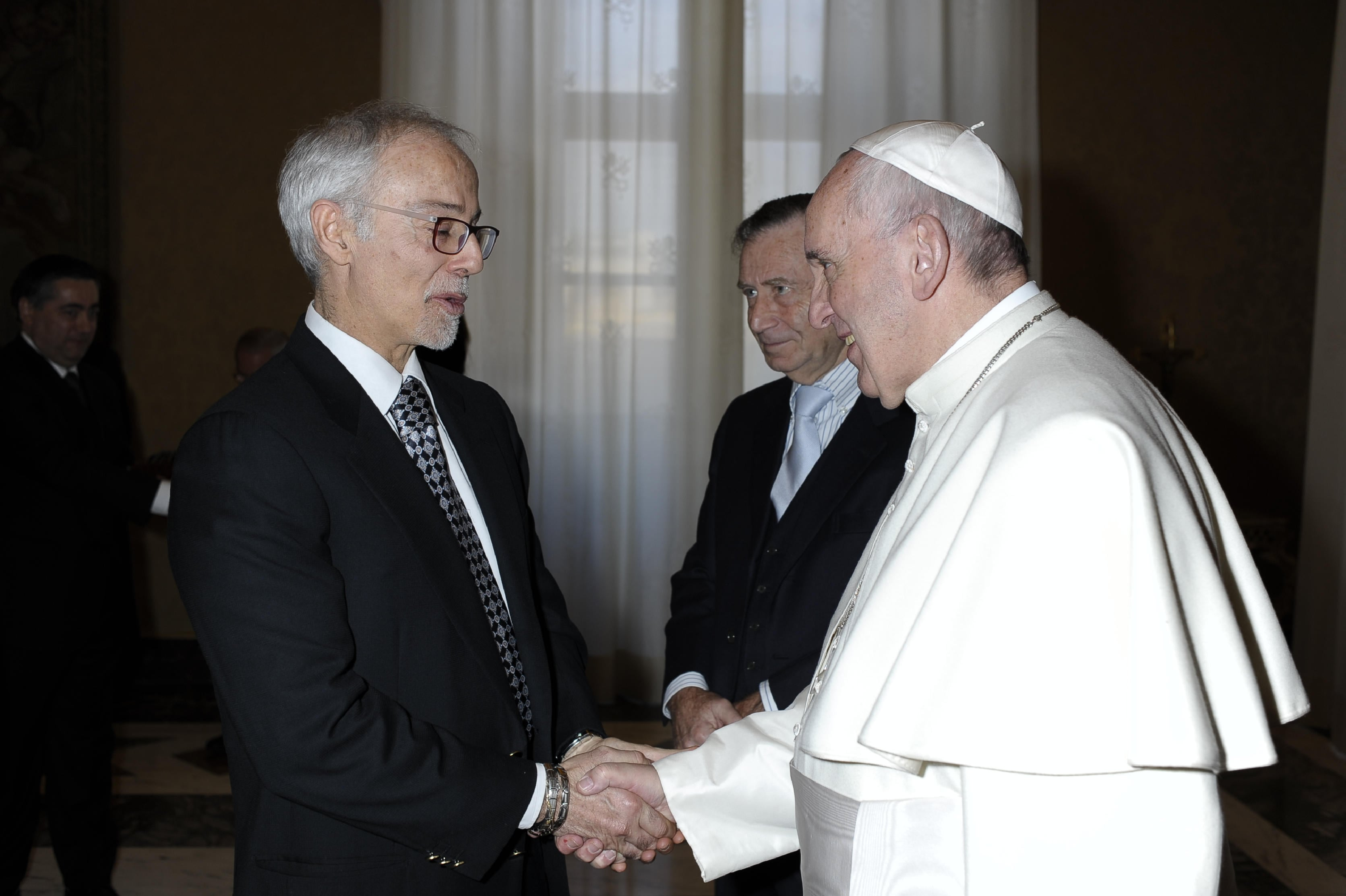 Massimo Sargiacomo And Pope Francis