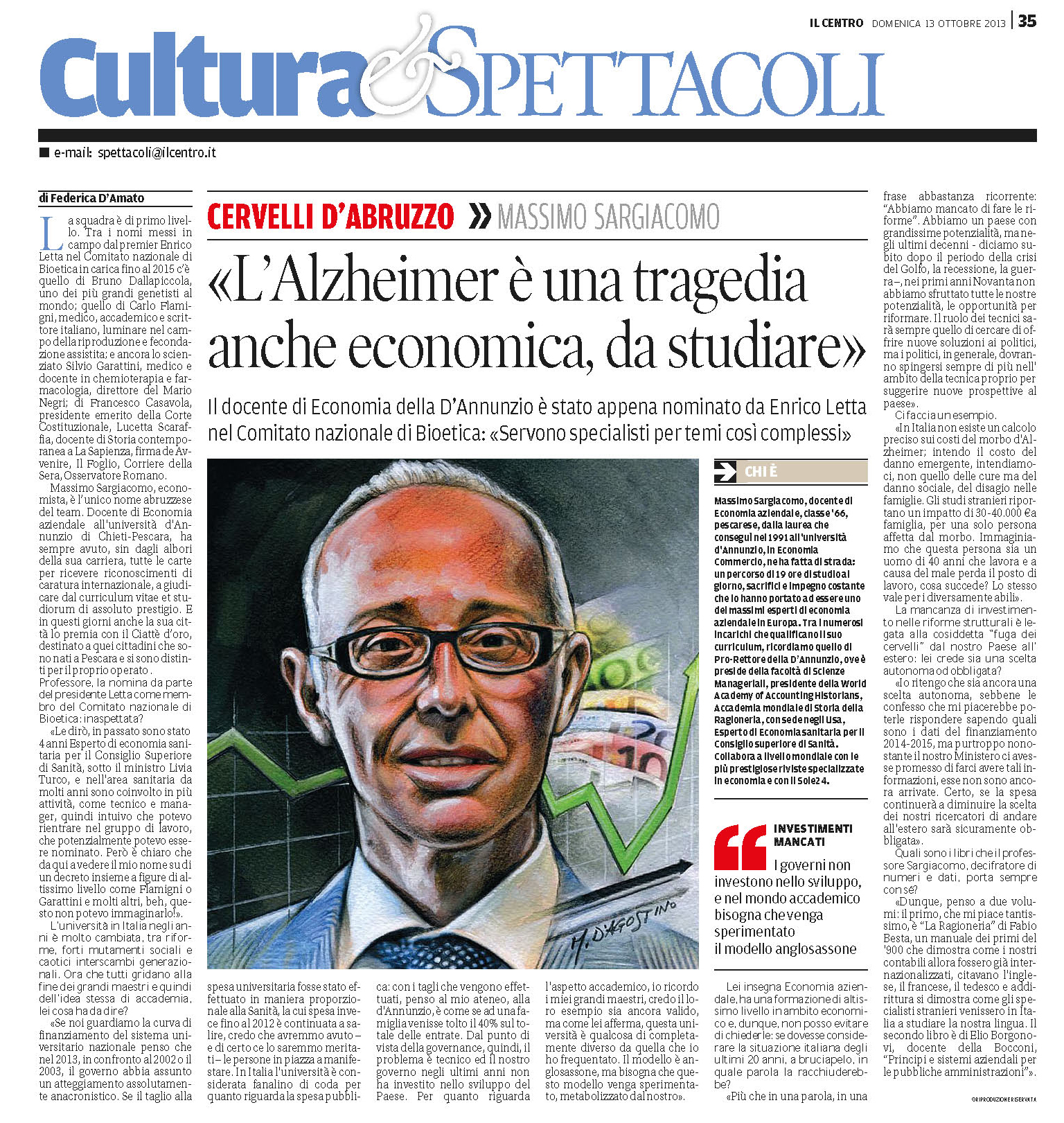 Massimo Sargiacomo - Il Centro ottobre 2013