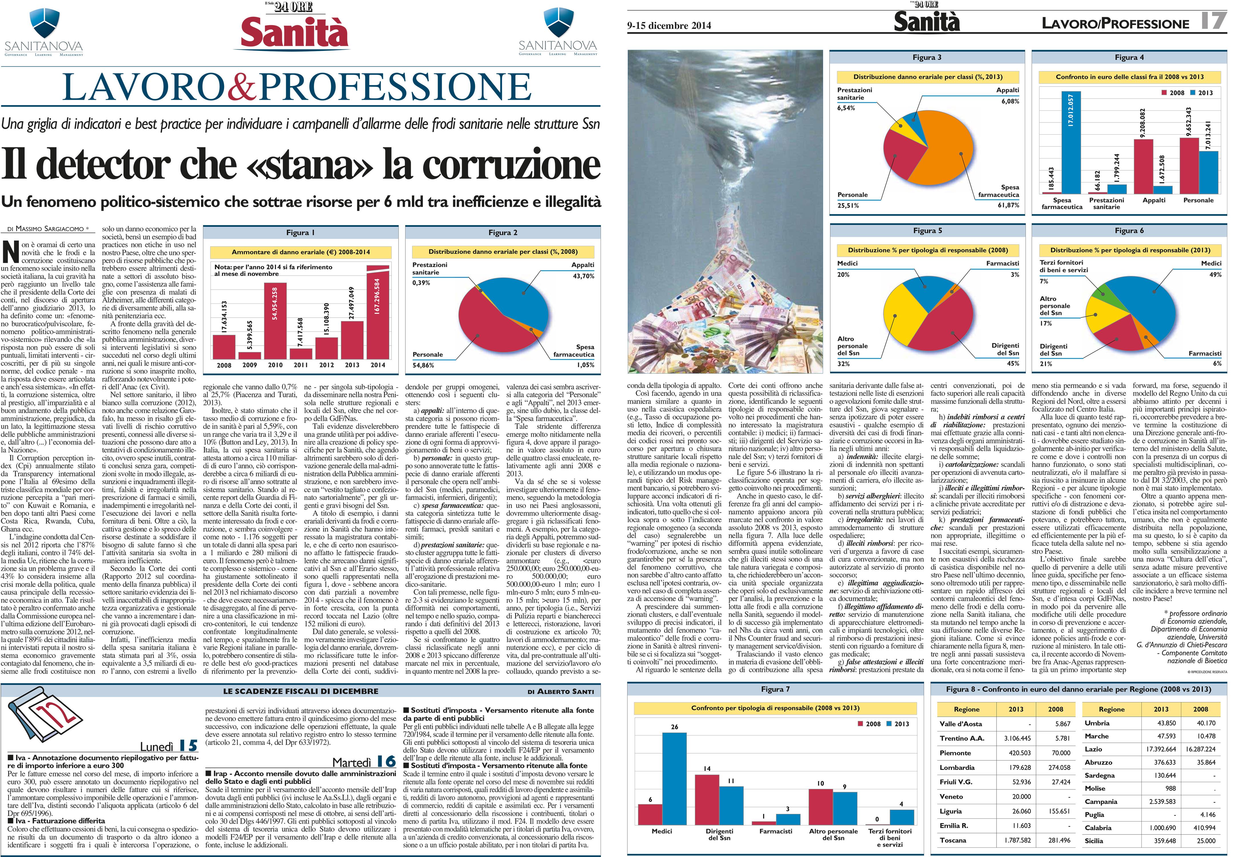 Massimo Sargiacomo - Il Sole 24 Ore dicembre 2014