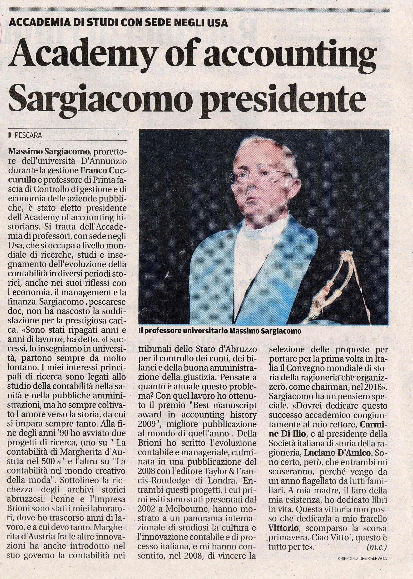 Massimo Sargiacomo - Il Centro gennaio 2013