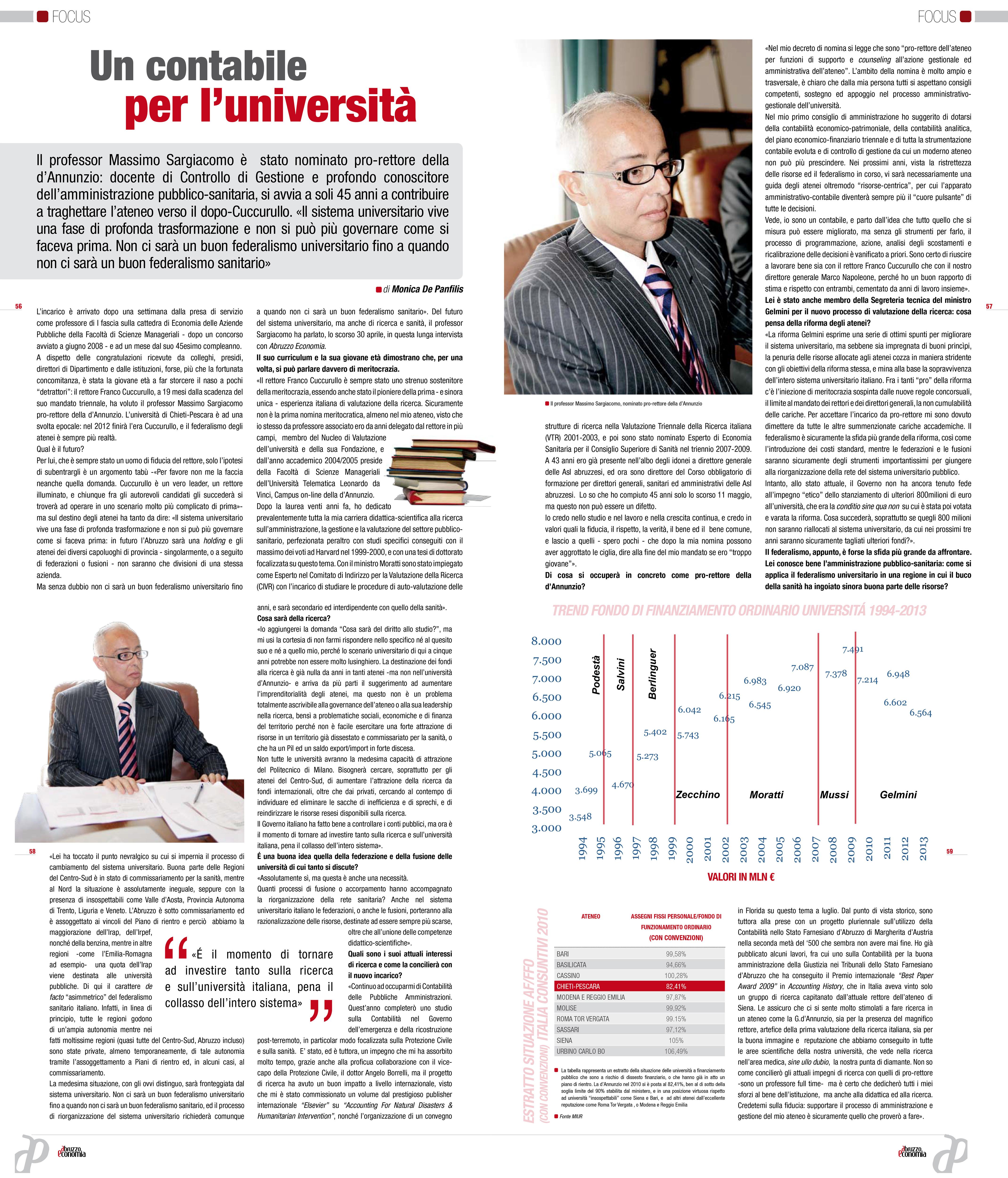 Massimo Sargiacomo - Abruzzo Economia